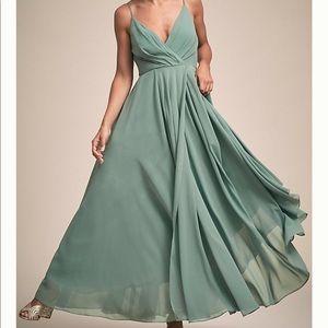 BHLDN Eva Plus Size Moss Bridesmaid Dress XXL